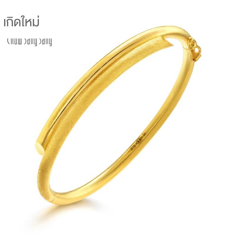 ☋△สร้อยข้อมือทองคำ Chow Sang เครื่องประดับทองคำบริสุทธิ์ทรายและสร้อยข้อมืองานแต่งงานสีขาวสร้อยข้อมือทองหญิง 23929K ราคา