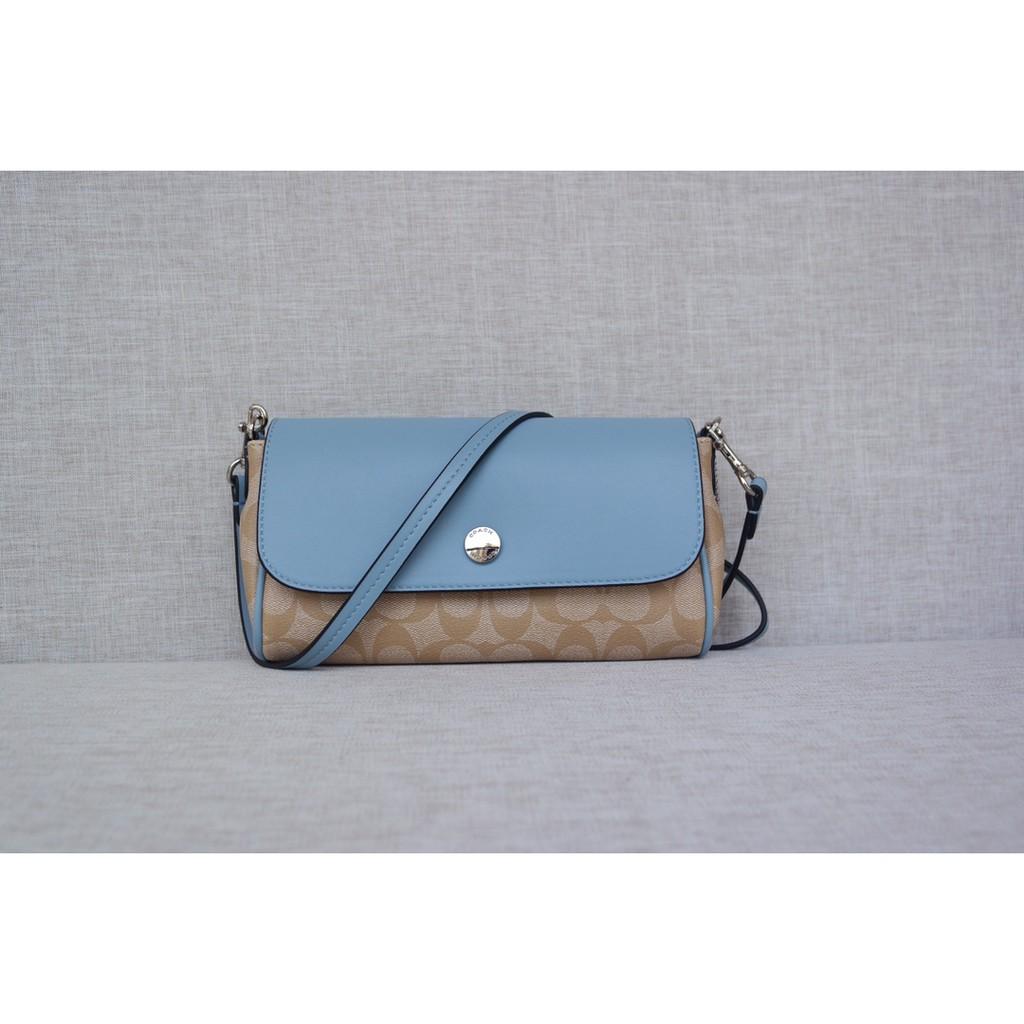 Coach Coach59534 กระเป๋า Crossbody ใหม่สำหรับผู้หญิงสามารถเปลี่ยน 2 สีได้! สีของกระเป๋าสามารถปรับได้ตามเสื้อผ้าที่แตกต่า