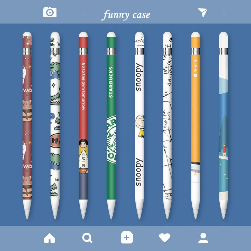 pecile❀ﺴ[แถมปลอกปลายปากกา] Apple pencil sticker 1st non-slip second-generation film ipad 2 sets