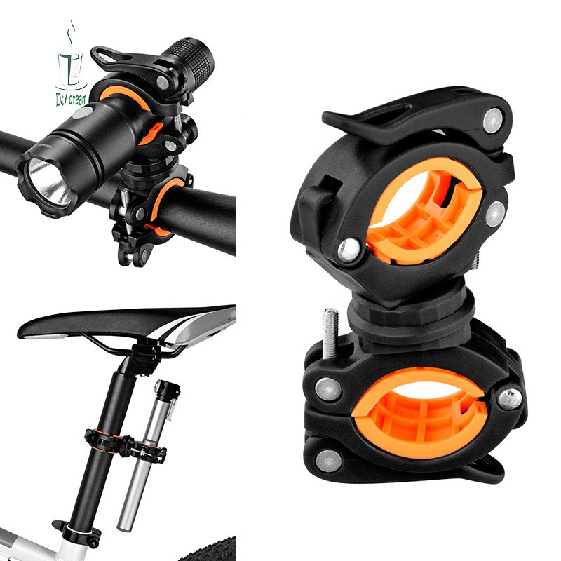Universal 360 Degrees Rotation Bicycle Cycling Mount Holder For Flashlight