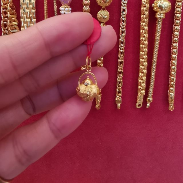จี้ทองแท้ 96.5%  น้ำหนักทอง ครึ่งสลึง ราคา 4,300บาท