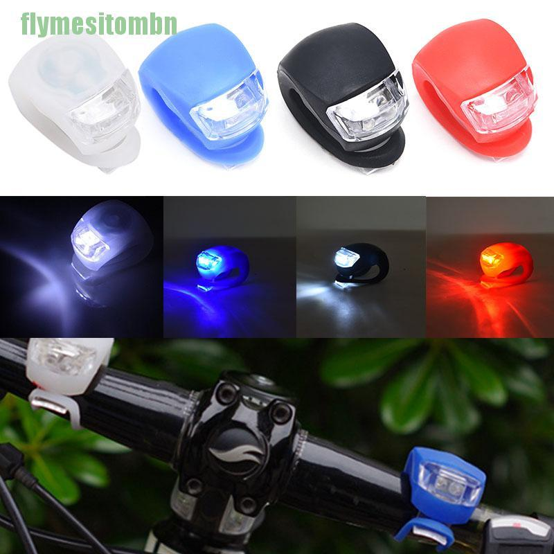 New 2LED Mountain Bike Lights Silicone Bicycle Light Head Front Rear Wheel Lamp