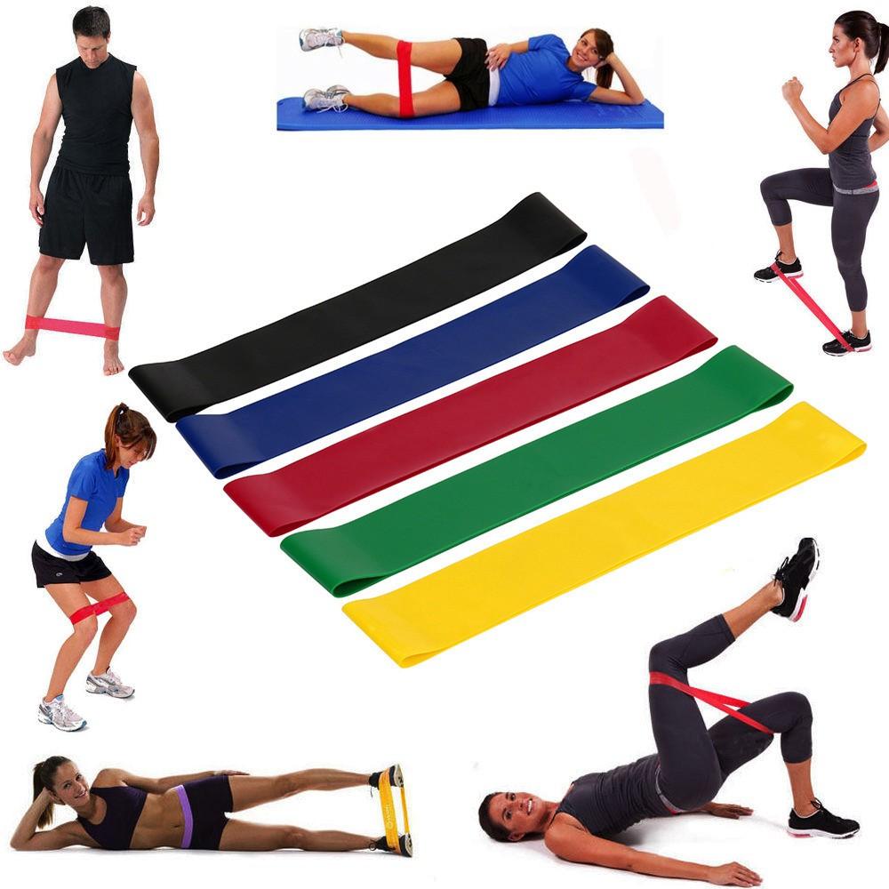 ยางยืดออกกำลังกาย สายแรงต้าน แบบห่วงยาว ครบชุด 60 ซม.
