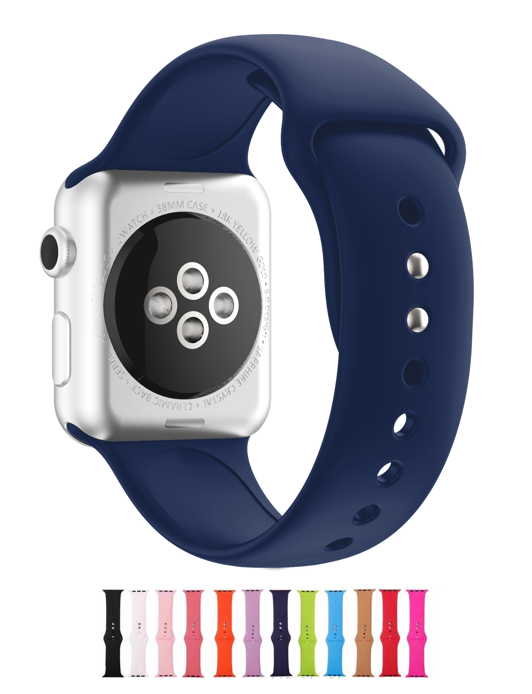 Apple Watch Strap 38mm 40mm 42mm 44mm iWatch Band Series 6 5 4 3 2 1 Soft Silicone Candy Color Watchband