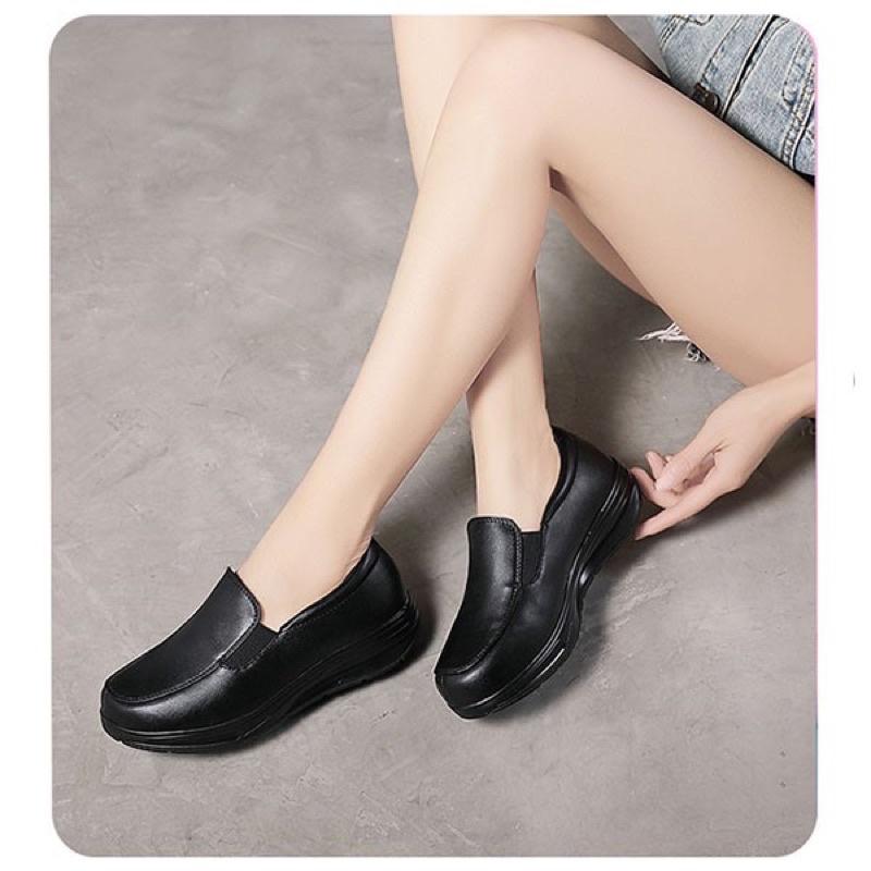 พร้อมส่ง รองเท้าพยาบาล รองเท้าคัชชู คัชชูผู้หญิง คัชชูทำงาน คัชชูพยาบาล พร้อมส่ง คัชชูมีส้น คัชชูสีดำ รองเท้าทำงาน