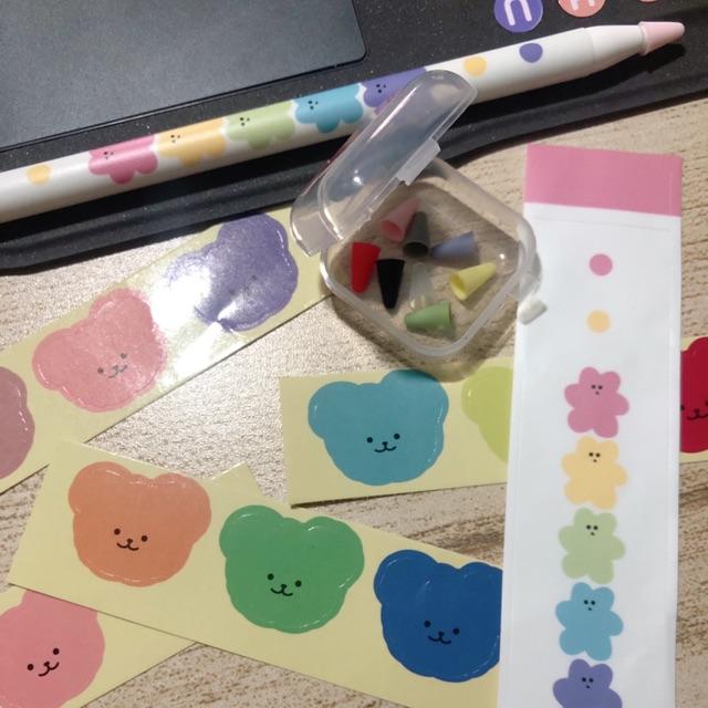 ซิลิโคนถนอมหัว+sticker apple pencil