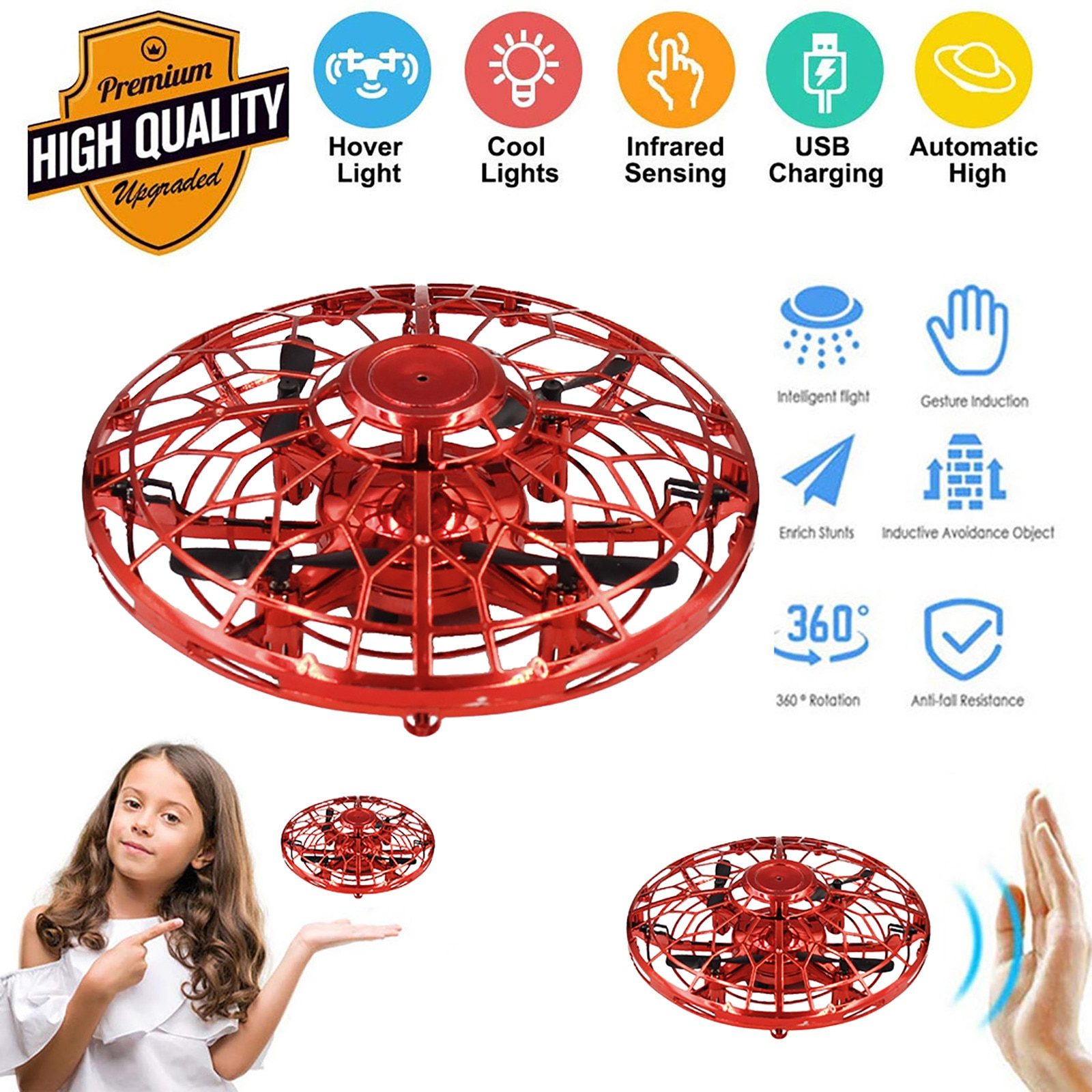 Mini Helicopter Ufo Rc Drone Infraed Hand Sensing Aircraft Electronic Model Quadcopter Flayaball Small Drohne Toys For C 1 185