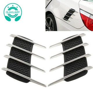 Chrome Car Exterior Side Air Intake Flow Vent Fender Decoration Stickers For VW