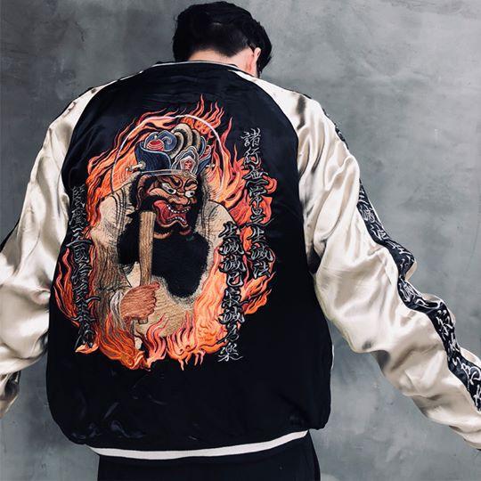 SUKAJAN พรีเมียมเกรด Japanese Souvenir Jacket  แจ็คเกตซูกาจันลาย  YAMA -King of hell