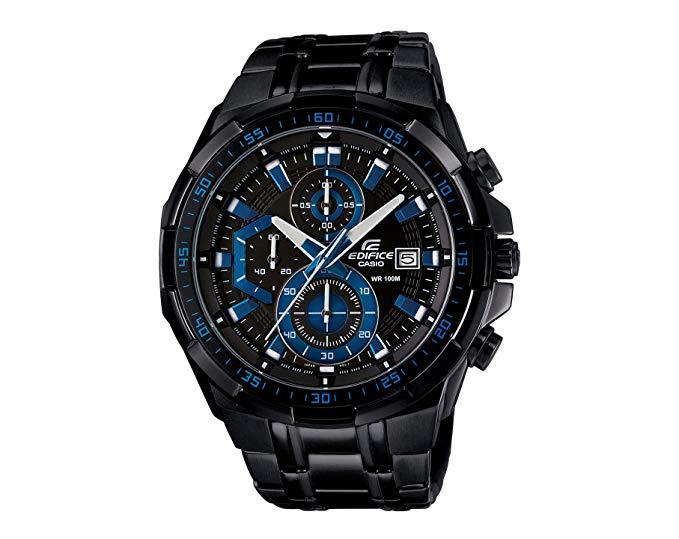 รุ่นใหม่ !! New Casio นาฬิกาข้อมือชาย สายสแตนเลส รุ่นEFR-539BK-1A2(Black/Blue)รับประกัน 1 ปี(ของแท้100% ประกันCMG) 2IIU