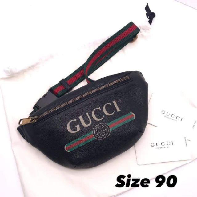 "❤️New Gucci Belt Bag mini90"" ดำ/ขาว อปก ถุงผ้า การ์ด ถุงกระดาษ 💯"