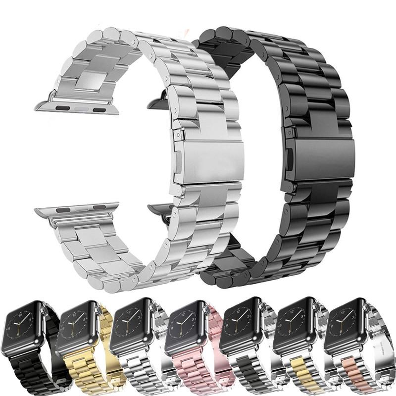 สายสแตนเลส สาย apple watch band 3 สายรัดเปลี่ยน for applewatch 1 2 stainless steel strap