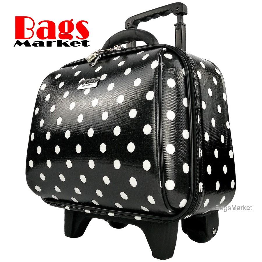 Wheal กระเป๋าเดินทางล้อลากคุณภาพดี 14 นิ้ว 2 ล้อ Code F771914-1 B-Dot