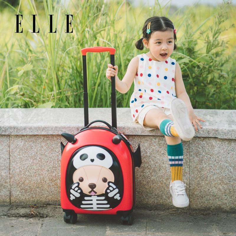 ☣ギ กระเป๋าเดินทางพกพา  กระเป๋ารถเข็นเดินทางกระเป๋าเดินทางเด็ก กระเป๋าเดินทางแม่และเด็ก ELLE Teddy, กระเป๋าเดินทางสำหรับเ