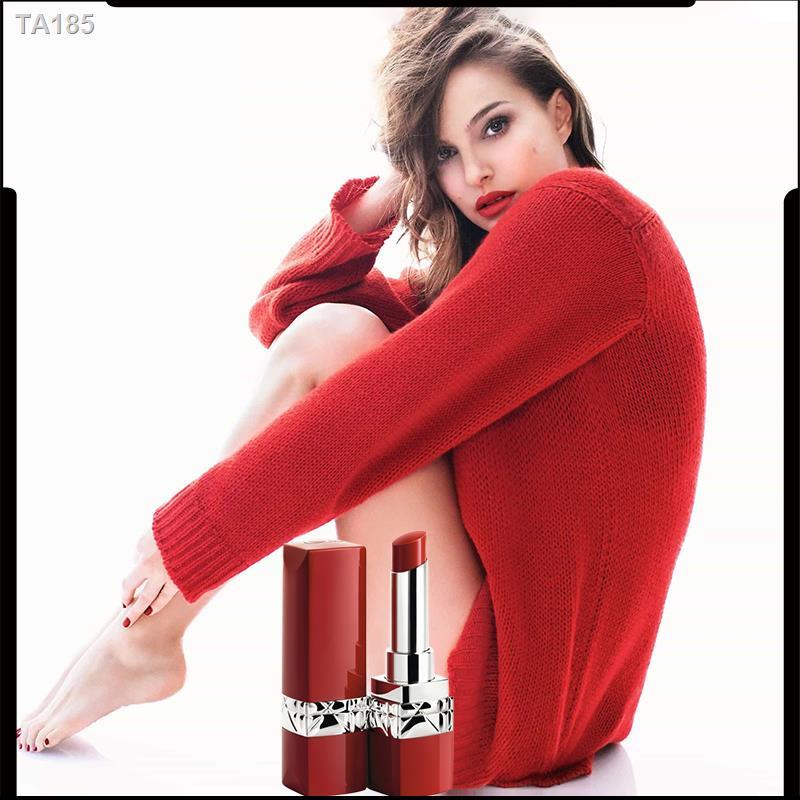 ✉๑☒[ของขวัญวันวาเลนไทน์จีน] Dior Dior Blue Gold True Red Lipstick Lipstick Red Tube 999 641 Semi-matte