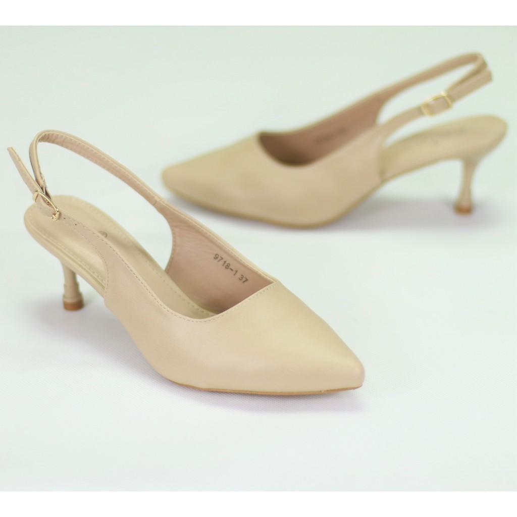 """☬รองเท้า FAIRY 9718-1  ส้นสูง 2.5"""" รองเท้าคัชชูรัดส้น รองเท้าคัชชูหัวแหลม รองเท้าหนังนิ่ม แฟชั่น"""