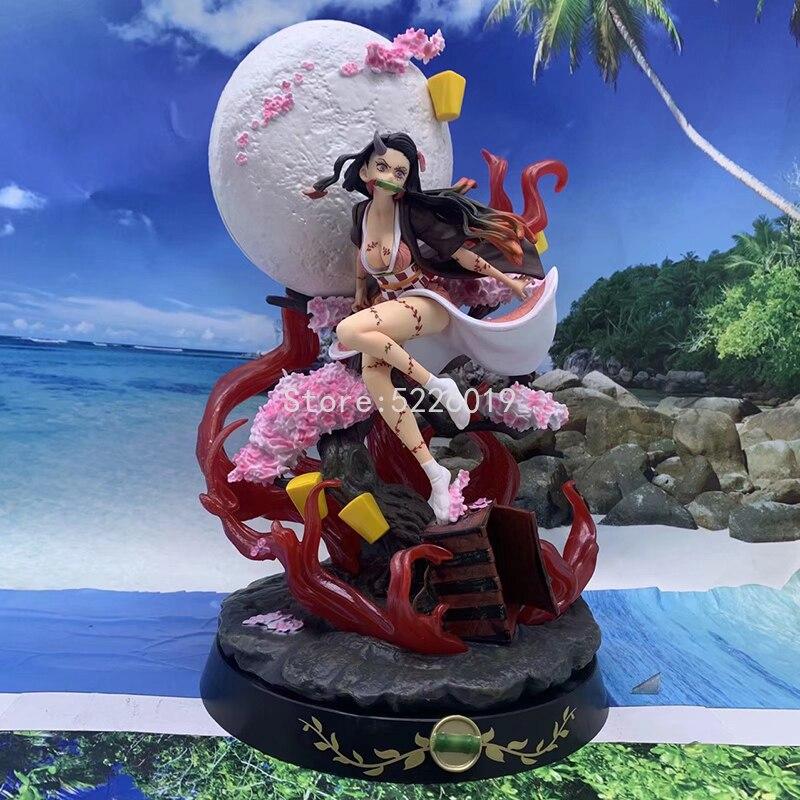 31cm Anime Figure Demon Slayer Kamado Nezuko PVC Action Figure Toy Kimetsu no Yaiba GK Statue Adult Collectible Model Do