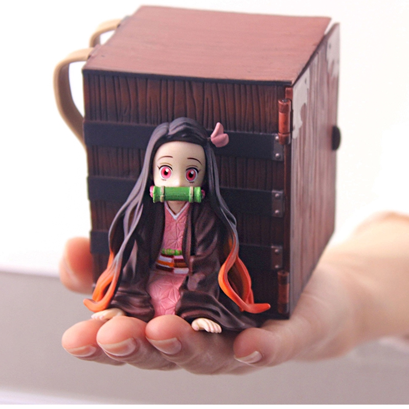 Anime Figure Nezuko Demon Slayer PVC Lying Position with Box Action Figure Collectible Model Toys Dolls Decoratio0