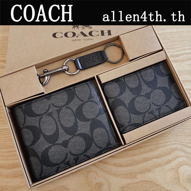 Wallet Coach แท้ F74993 กระเป๋าสตางค์ผู้ชาย / กระเป๋าสตางค์  / กระเป๋าเงิน / กระเป๋าตัง / กระเป๋าสตางค์ใบสั้น / กระเป๋าสตางค์หนัง / กระเป๋าสตางค์บัตร / กระเป๋าสตางค์แบรนด์เนม