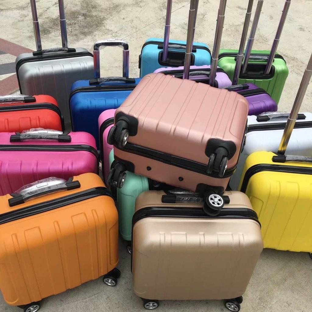 ♚✌℡กระเป๋าเดินทางล้อลากสำหรับเด็กแฟชั่นกระเป๋าเดินทาง 14 นิ้วกระเป๋าเดินทางหญิง 16 นิ้วกระเป๋าเดินทางขนาดเล็ก 18 นิ้วล