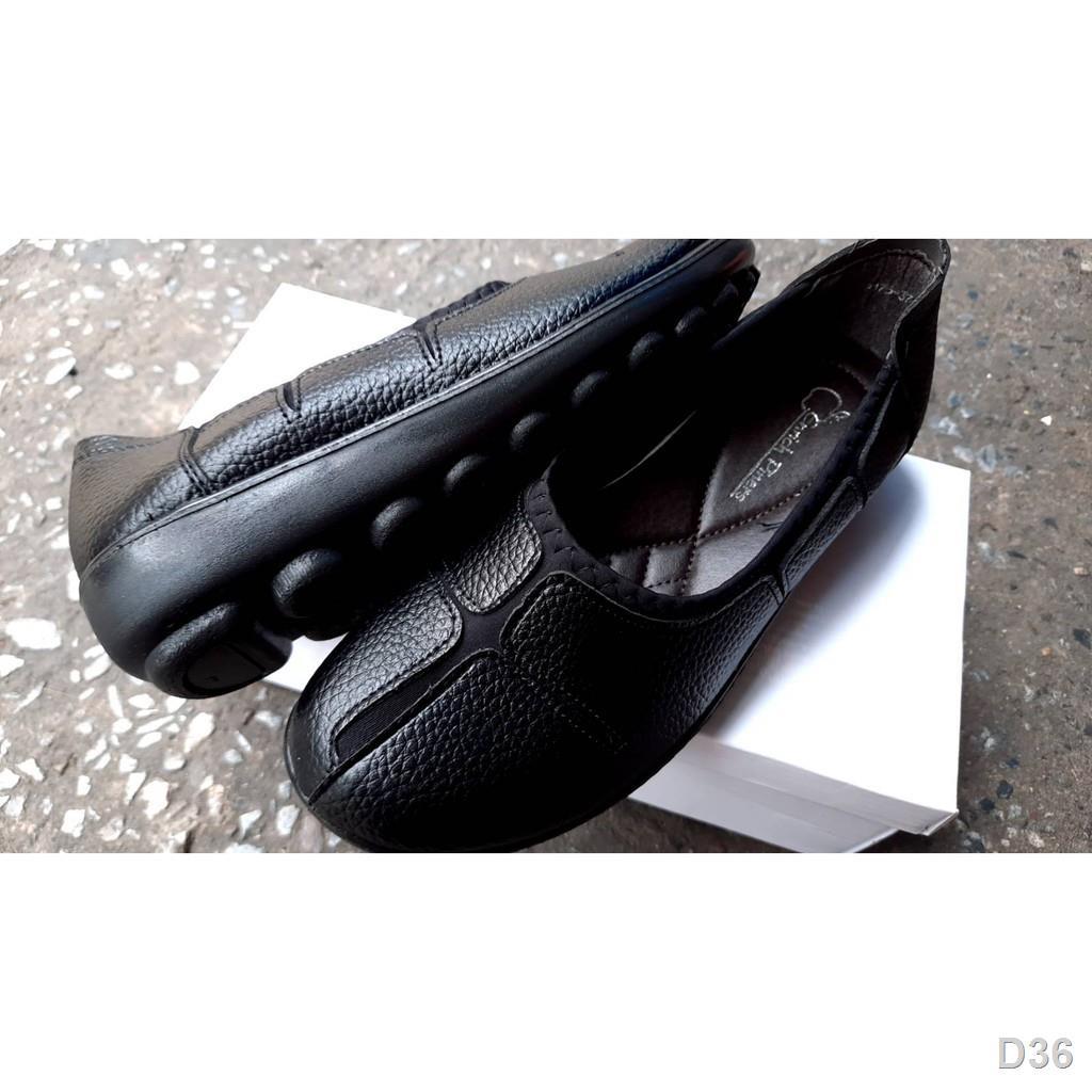 P ❉❅รองเท้าคัตชูหนังผู้หญิง รองเท้าคัชชูพื้นนุ่ม รองเท้าคัชชูสีดำ รองเท้าคัชชูพื้นไม่ลื่นรองเท้าคัชชูเพือสุขภาพคัชชูแม่บ