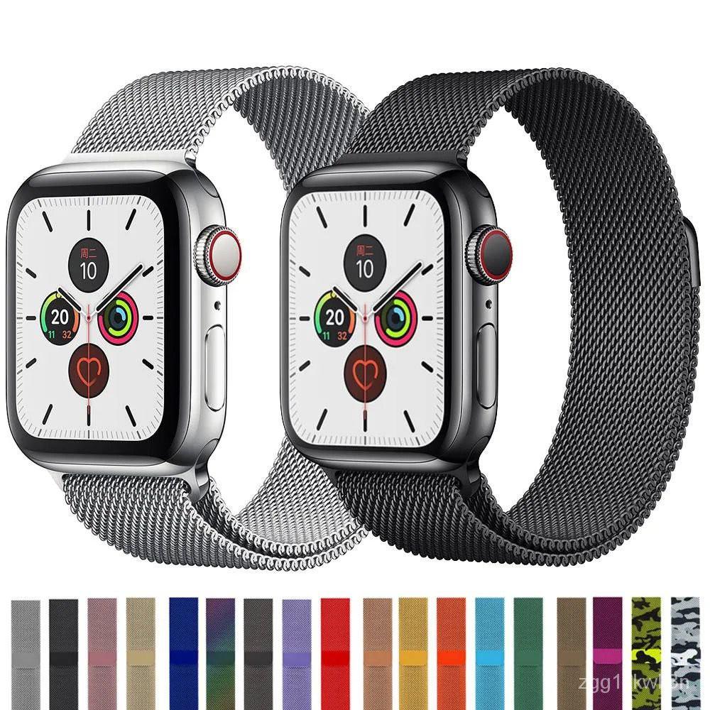 สาย applewatch สายแอปเปิ้ลวอช สายนาฬิกาซิลิโคน สายนาฬิกา watch สาย applewatch แท้ iWatchสายโลหะแม่เหล็กมิลานนีซ Apple6/5
