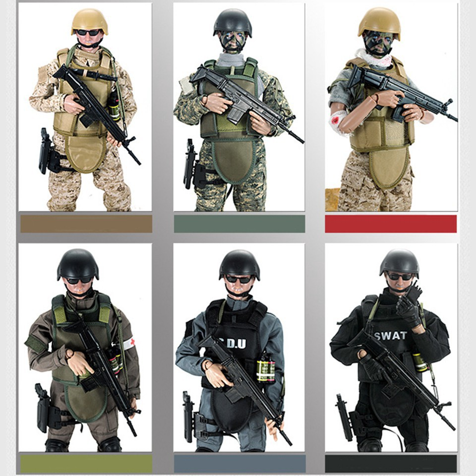 """1//6 Soldier 12/"""" Action Figure body Military Army Suit Uniform Clothing Set Model"""