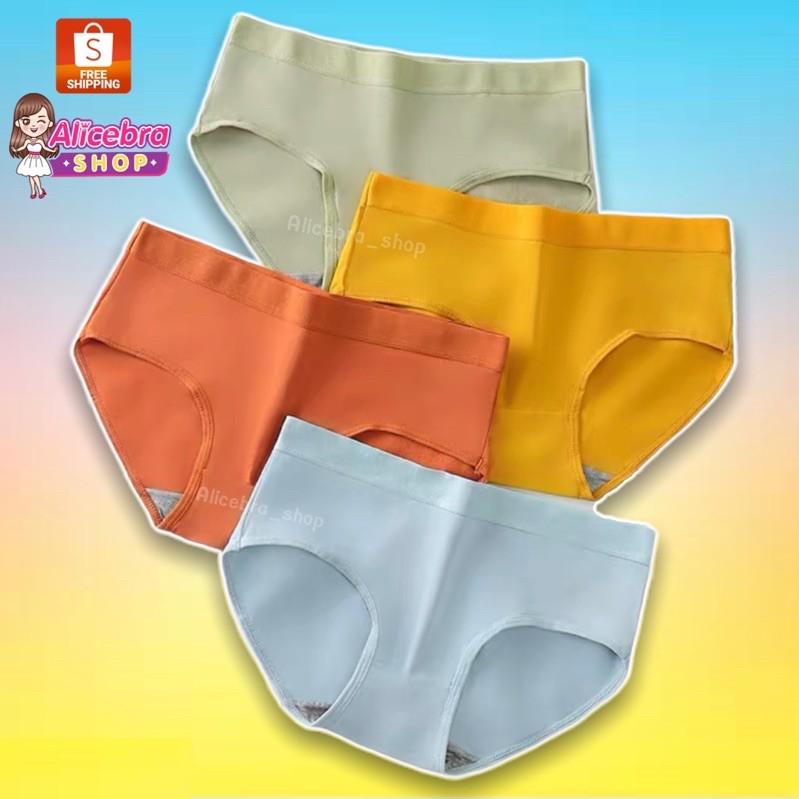กางเกงในคัตตอน มี8สี ใส่สบายนุ่มมาก กางเกงในน่ารัก
