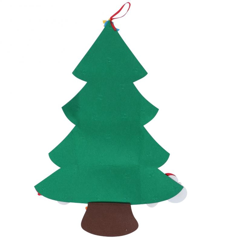 28PCS Felt Christmas Tree DIY Decoration Child New Year Wall Hanging Ornaments