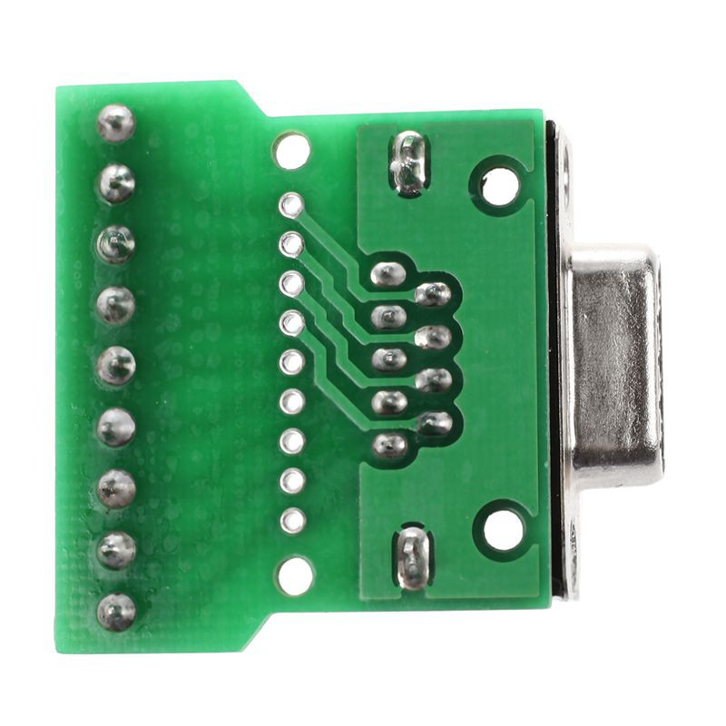 DB9 RS232 Serial to Terminal Female Adapter Connector Breakout Board  Black+Green