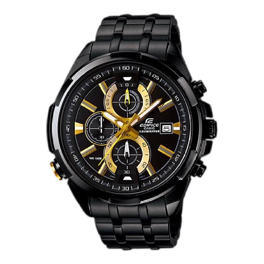 Casio Edifice นาฬิกาผู้ชาย สายสแตนเลส รุ่น EFR-536BK-1A9 - สีดำ