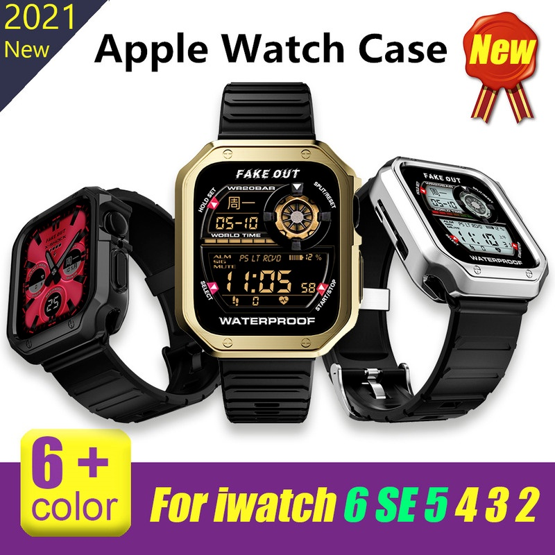 Apple Watch Case for Apple Watch Series 6 SE 5 4 44mm 42mm Armor Luxury silicone Case for iwatch 3 2 1 38mm 40mm Apple Watch Cover