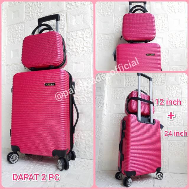 กระเป๋าเดินทางขนาด 24 นิ้ว + 12 นิ้ว (can Be 2 ชิ้น) Polo Fiber / Abs 010