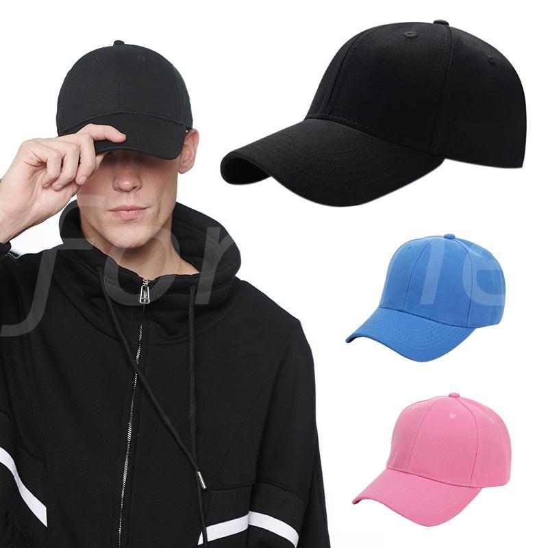 Unisex Plain Baseball Cap Solid Color Hat Adjustable Wool Hook /& Loop Blue