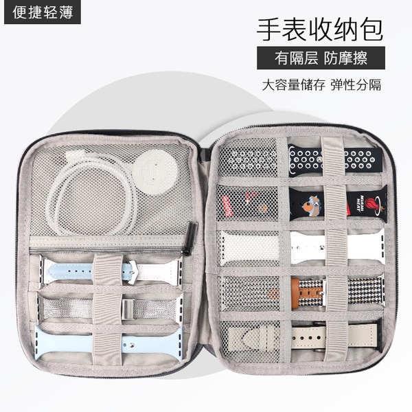 สาย applewatch เหมาะสำหรับสายนาฬิกา Apple Huawei Samsung applewatch6 กล่องเก็บกระเป๋าหนังกระเป๋ามัลติฟังก์ชั่น iwatch4 /