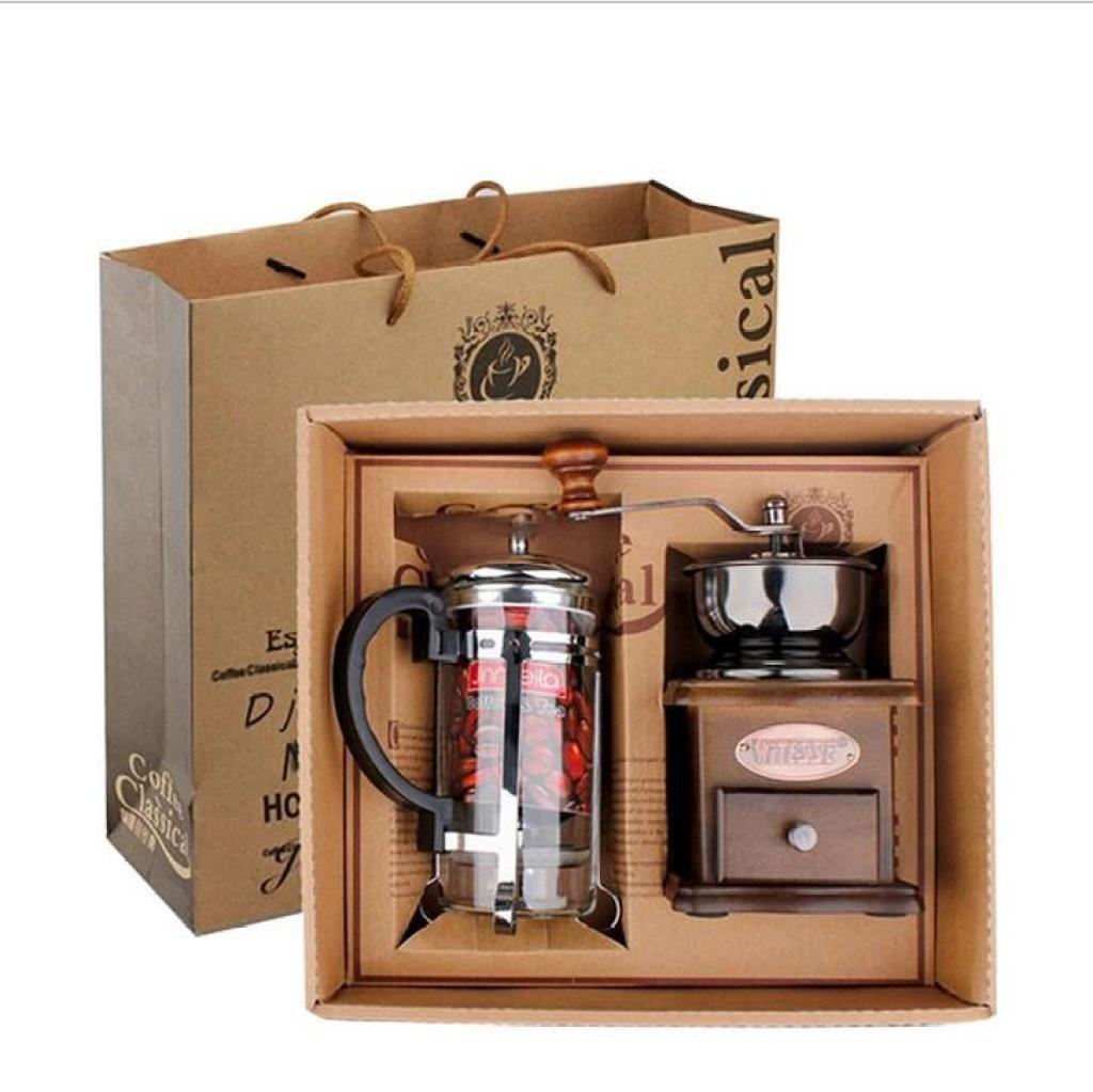 ชุดเครื่องทำกาแฟ แบบพกพา เดินทาง พร้อมกล่องของขวัญ