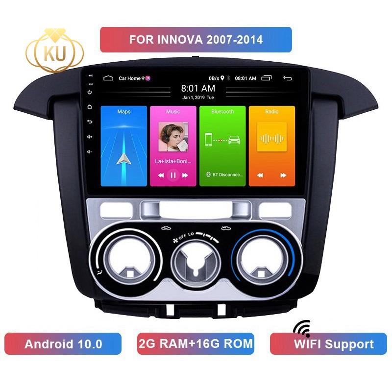 เครื่องเล่น Mp5 วิทยุ 2 Din Android 10 . 0 2 + 16 Gb Wifi Gps Navigation สําหรับ Toyota Innova 2007-2014