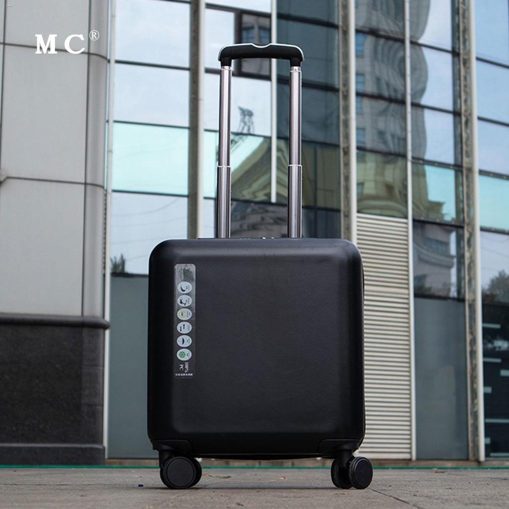 ☌✇กระเป๋าเดินทางสำหรับธุรกิจขนาดเล็กและน้ำหนักเบา กระเป๋าเดินทางสำหรับรถเข็นสำหรับสุภาพสตรีขนาด 18 นิ้ว ผู้ชาย 20 นิ้ว ร