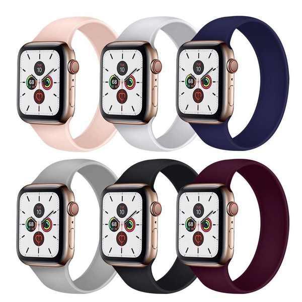 สาย applewatch เหมาะสำหรับ iwatch6 ซิลิโคนชิ้นเดียวที่ไม่มีหัวเข็มขัด Applewatch 5/4/3/2/1 รุ่น SE กีฬานาฬิกาเดิมพร้อมสา