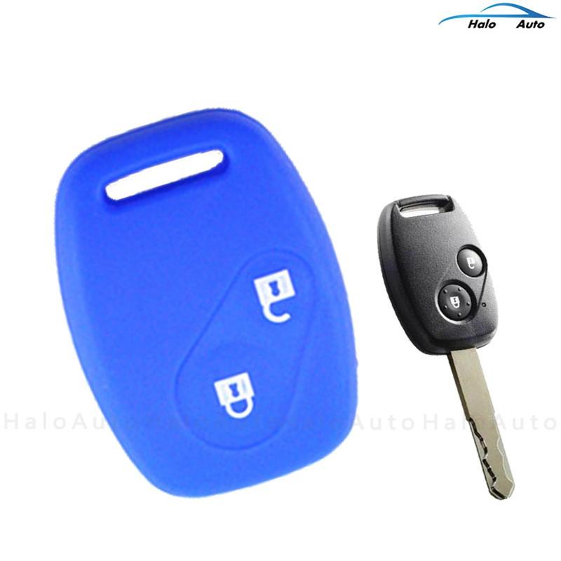 เคสกุญแจรถยนต์ 2 ปุ่ม แบบซิลิโคน สำหรับ Honda V-V Fit Pilot Accord Civic