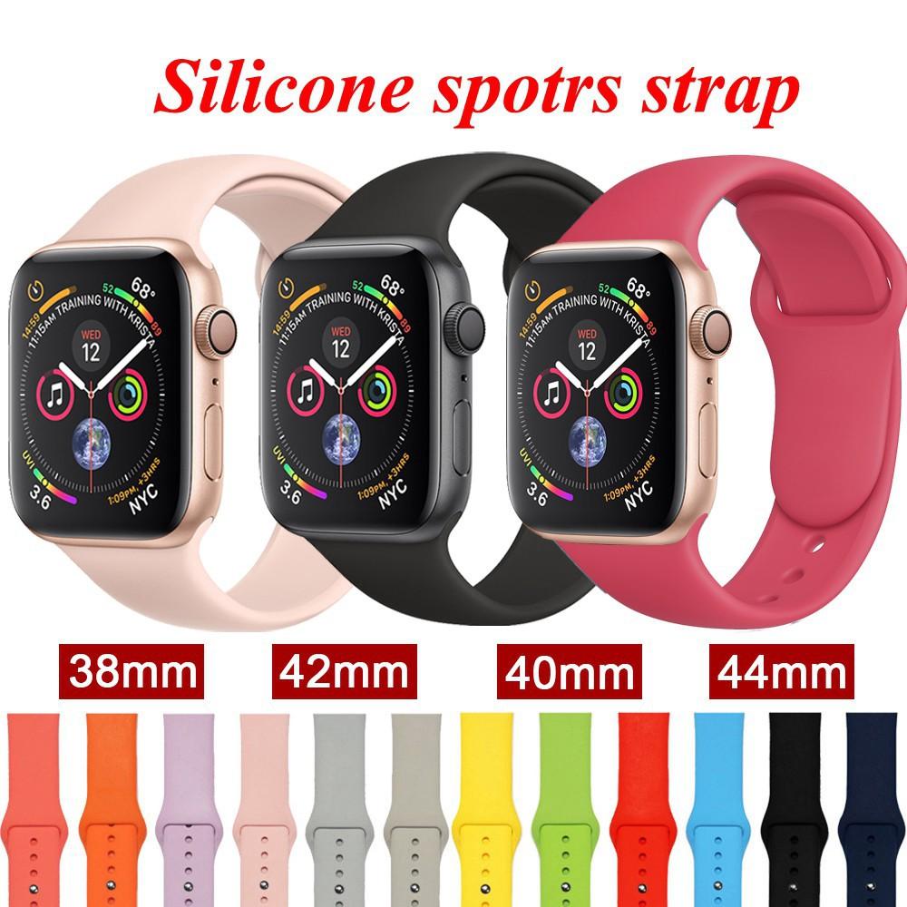 สาย applewatch สายนาฬิกา applewatch 【Apple Watch Strap】สายกีฬาซิลิโคนอ่อนนุ่มสำหรับ Apple Watch series 6 se 5 4 3 2 1 38