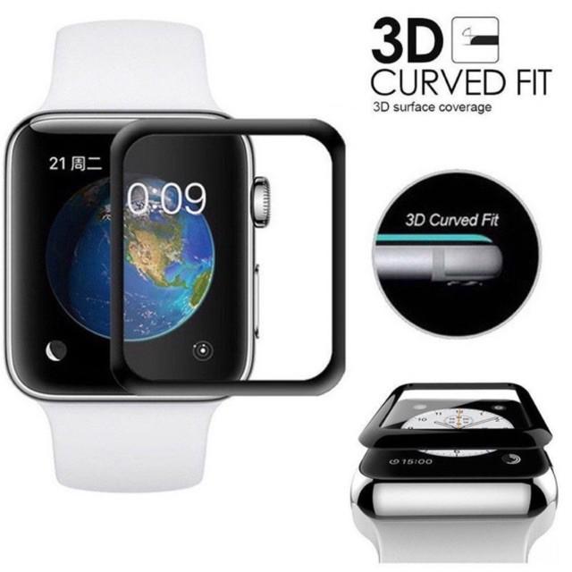 ❂✳ฟิล์มกระจกนิรภัย 3D ลงโค้ง applewatch Series 6 SE /5 4 / 3 2 1 1ฟิล์มกระพลาสติก 38MM 40MM 42MM 44MM