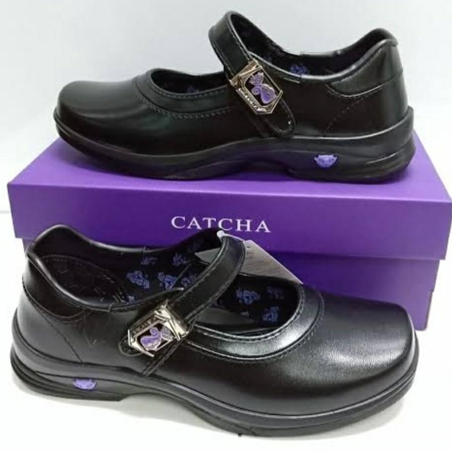 Sale Catcha รองเท้าคัชชู นักเรียนหญิง สีดำ แคชช่า CX03A+ รุ่นใหม่ล่าสุด @ลดิเศษ