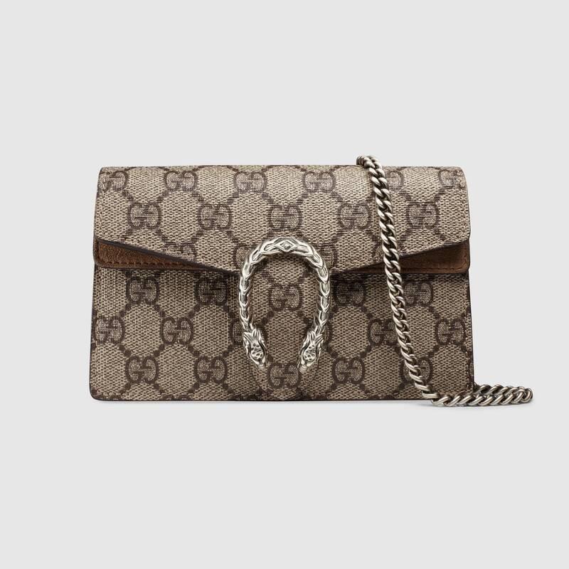 [FJ]ซื้อ GUCCI Dionysus Supreme canvas GG mini bag ของแท้จากยุโรป