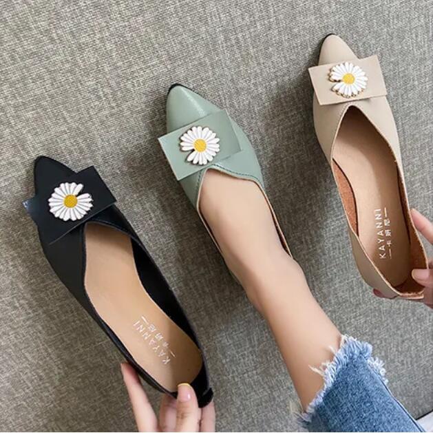 🔥🔥รองเท้าคัชชูผู้หญิง รองเท้าคัทชูผู้หญิง รองเท้าทำงาน รองเท้าส้นแบน ส้นแบนหัวแหลม