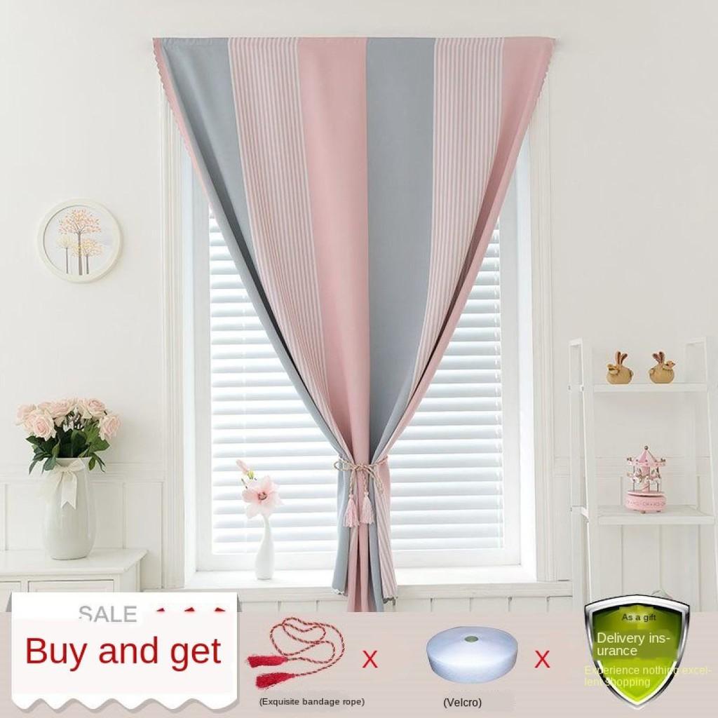 TL ผ้าม่านหน้าต่าง ผ้าม่านประตู ผ้าม่าน UV สำเร็จรูป กั้นแอร์ได้ดี และทึบแสง กันแดดดี ติดแบบตีนตุ๊กแก จำนวน 1ผืน