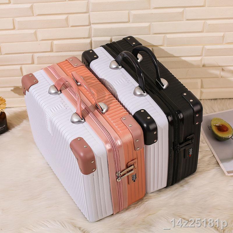 ราคาต่ำสุด▧กระเป๋าเดินทางขนาดเล็ก 14 นิ้วกระเป๋าเดินทางผู้หญิงน่ารักกระเป๋าใส่เครื่องสำอางขนาดเล็กและเบากระเป๋าเดินทางข