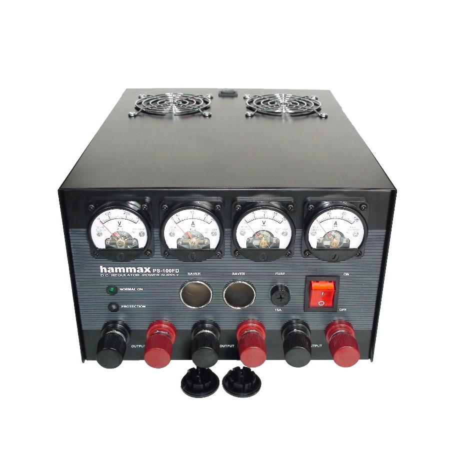 สวิชชิ่ง HAMMAX PS-100FD100แอมป์ 13.8V. แบบสวิชชิ่งมีพัดลมระบายความร้อน ประกัน 1ปี