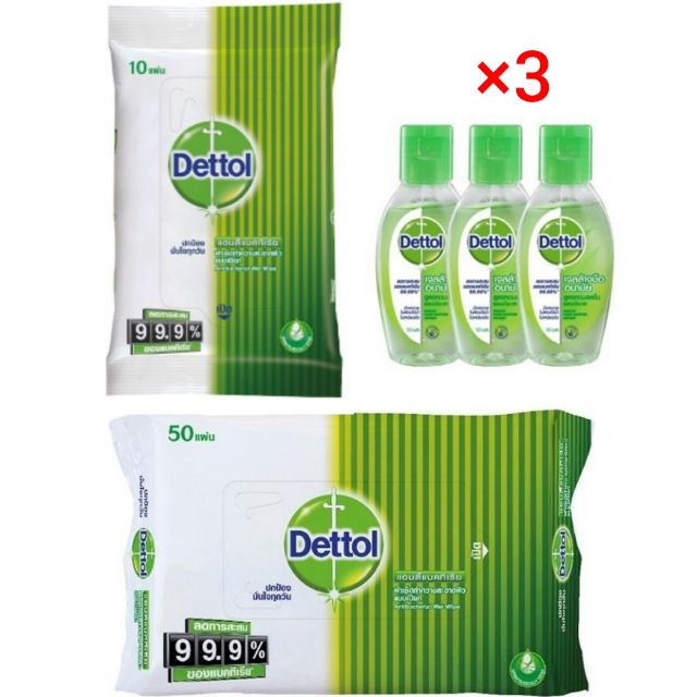 Dettol เดทตอล ผ้าเช็ด, เจลล้างมือ ทำความสะอาด