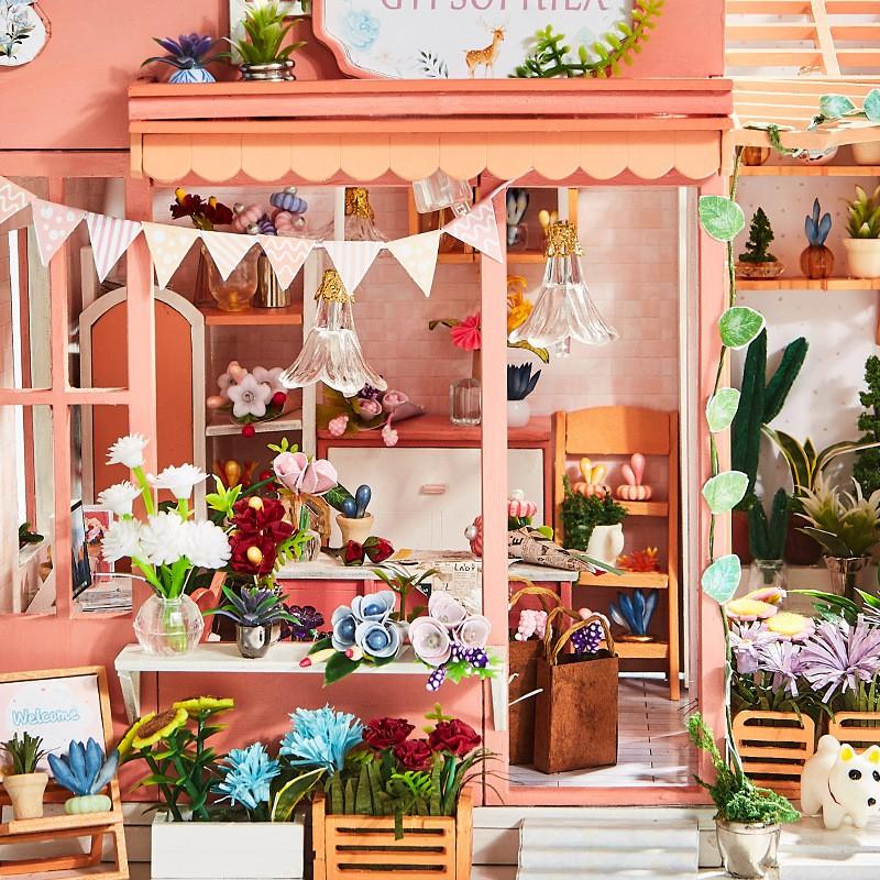 ไม้อวบน้ำทำมือdiyกระท่อมที่ทำด้วยมือบ้านหลังเล็กๆรุ่นประกอบศิลปะบ้านหญิงส่งแฟนของขวัญรูปแบบใหม่